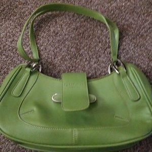 Lime green small Gucci shoulder purse